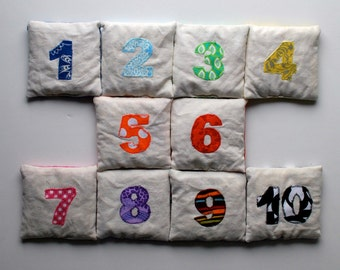 Counting Bean Bags--Funky Rainbow Set
