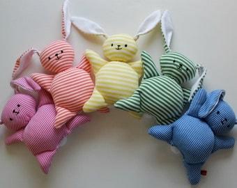 Orange Stripey Mooshy Belly Bunny