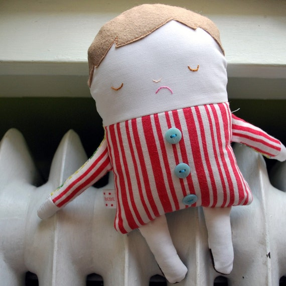 Two-Faced Friend Doll Made from Vintage Materials--Buster