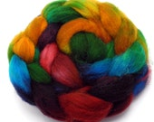 Themyscira -- hand dyed superwash English wool combed top (hand dyed roving)