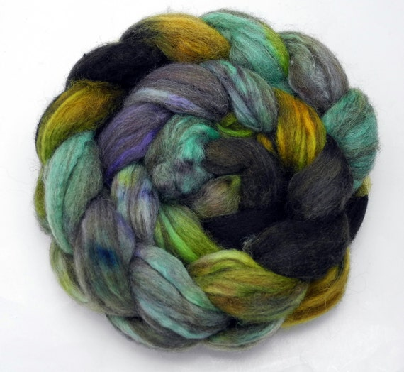 Carnivale - Mixed BFL Wool top (roving) - handdyed, handpainted