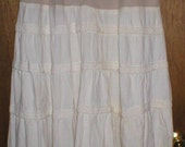Rescued Rags - Lady in white anytime skirt - Sassy but Classy