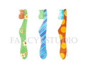 763 TOOTHBRUSHES  original MATTED  watercolor painting for bath or powder room