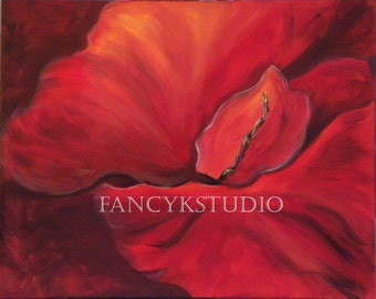 835 RED HIBISCUS FLOWER 8x10 Limited Edition Print