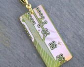 Chartreuse Green Circuit Pendant