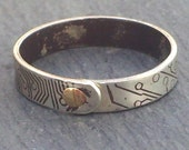 Sterling Silver Circuit Ring - size 11