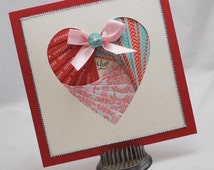 Heart Card Iris Folded
