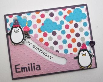 Penguin Slider Birthday Card