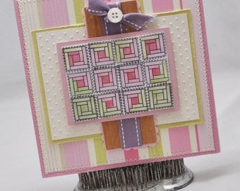Quilted Bookmark Card