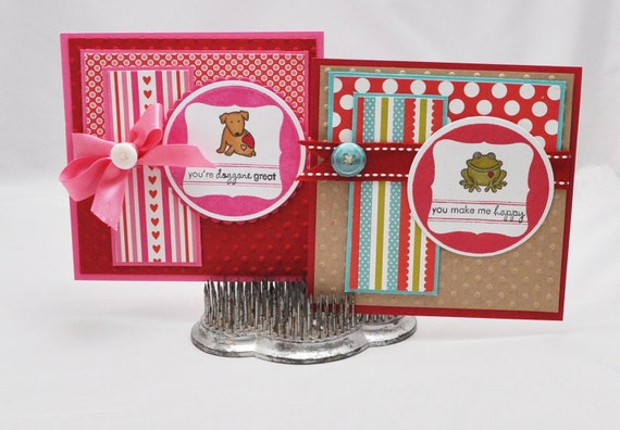 Childrens Lunchbox Note Cards Set of 2