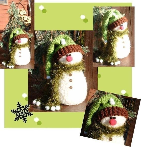 FOREST PUFF Snowman Crochet Pattern PDF