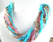 Desert Sunrise Mixed Fiber Necklace