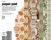 Scrapbook paper - 6x6 inch Paper Pad - Basic Grey Archaic