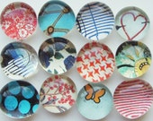 Space Cowboy Magnets - set of 12 glass magnets
