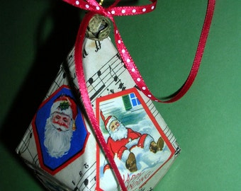 Vintage Christmas Stickers Ornament