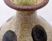 Black Polka Dot Vase