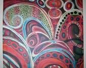 VEGAS by maxine orange - giclee print on canvas