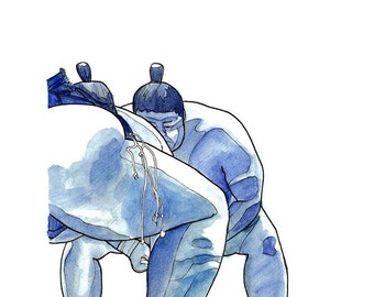 Blue Sumo // Limited Edition Archival Print