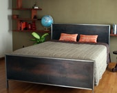 Steel Panel Bed - Queen Size - deliafurniture