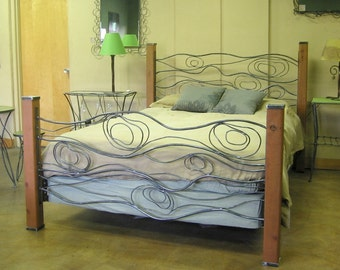 Wood Grain Bed of Steel and Cedar