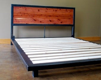 Kraftig Platform Bed with Tennesee Cedar Headboard