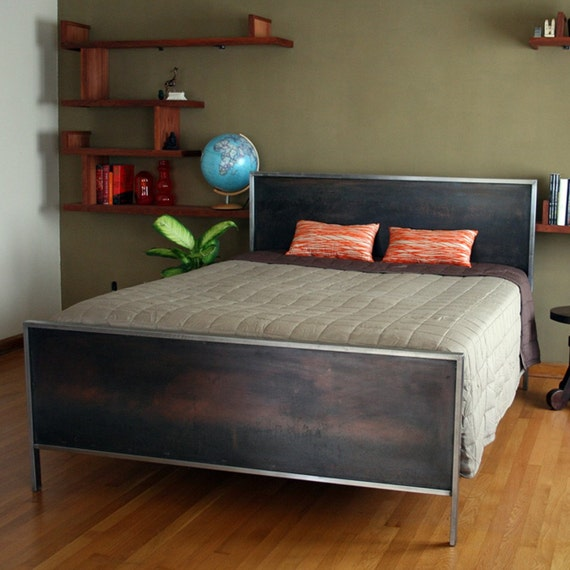 Steel Panel Bed - Queen Size