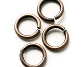 6mm Antique Copper Jump Rings - Nickel Free - 100 Pieces - 0302-OXCO