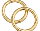 20mm Thick Plated Gold Brass  Jump Rings - Nickel And Lead Free - 10 Pieces - 1262