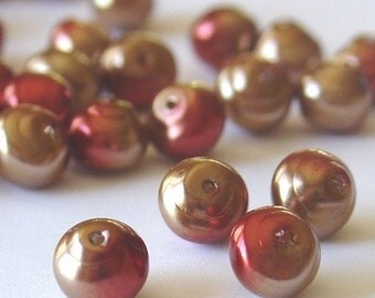 Gutermann - 6mm Czech Hawaiian Beads - Bronze - 40 Pieces - 2120