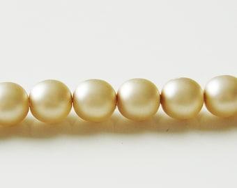 8mm Premium Gutermann Beige Glass Beads - 46 Pcs - 3893