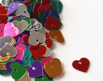Gutermann Colorful Metallic Little Heart Sequins 4- grams - 9908