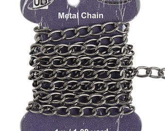 CLEARANCE       7mmx4mm Hematite Chain - Lead and Nickel Free - 1 metre/approximately 3.28 feet - 0306h