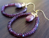CLEARANCE   Rhodolite Garnet Goddess Earrings