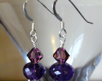African Amethyst Earrings, Gemstone Jewelry, Handmade Jewelry