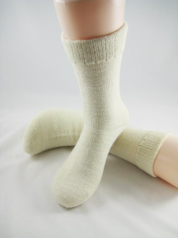 Eco No Dye Merino Wool Socks Size Large.