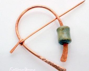 Modern Circle Pin for Scarf and Shawl NEW smaller size by Katsara