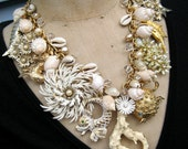 Under The Sea - A Vintage Statement Necklace RESERVED FOR JASON
