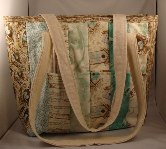 Bird's Nest and Birches Tote Bag