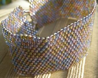 Flower Garden/Peyote Bracelet/Beaded Bracelet/Handmade Jewlery/Personalized Gift/Gift for Her