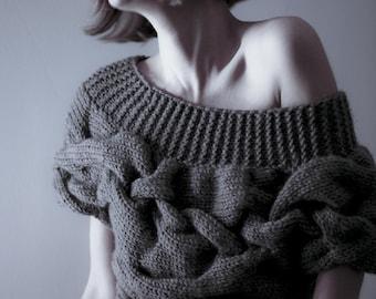 AQUA short sleeves sweater