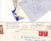 VINTAGE 10 Addressed Envelopes With Stamps From 1940s