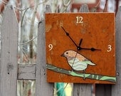 chickadee clock (orange)