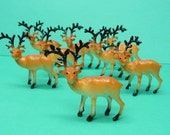 RESERVED for  TrashDisco Set of 8 Miniature Reindeer