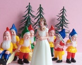 RESERVED for  TrashDisco Snow White Cake Topper Set