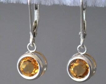 AAA Golden Citrine Drop Earrings