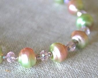 Pink and Green Flirty Bracelet