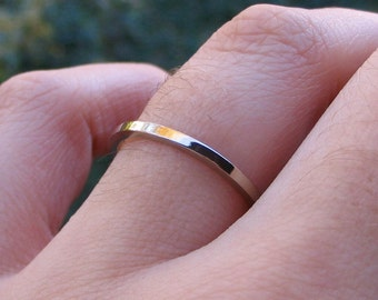 Palladium White Gold Wedding Band Ring 14K White Gold Ring Any Size