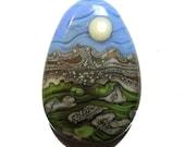 Lampwork Glass Focal Bead Full Moon Valley...