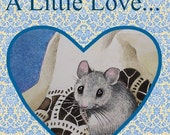 Cute Valentine Mouse From Animal Art by Melody Lea Lamb