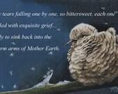 Sympathy Card from Original Dove Bird Art by Melody Lea Lamb
